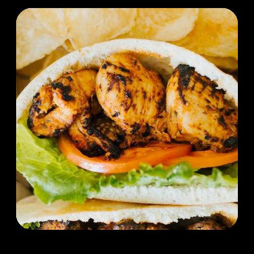 Chicken Kabob Pita